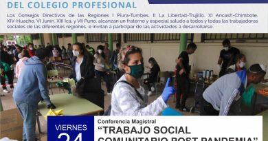 """Conferencia Magistral """"Trabajo Social Comunitario POST Pandemia"""""""